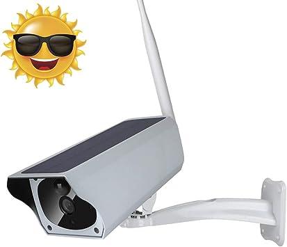 Opinión sobre 1080p Cámara IP Bala con Energía Solar IP67 Impermeable Al Aire Libre Cámara de Vigilancia IR-Cut Visión Nocturna PIR Detección de Movimiento para Villas, Comunidad, Patio