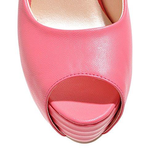 Fashion Heel - plataforma mujer melocotón