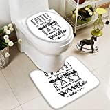 Analisahome Soft Toilet Rug 2 Pieces Set faith does not make things easy it makes them possible bible Machine-Washable