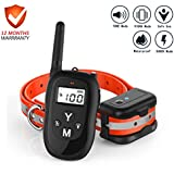 PePetdog Dog Training Collar, 2019 Upgraded 1000ft Rechargeable Waterproof Remote Control Training Collar, 3 Adjustable Beep, Vibration and Shock Collars for Small, Medium, and Large Dogs