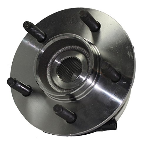Hub Assy Front Wheel - Detroit Axle - Front Wheel Hub and Bearing Assembly w/14mm Bolt Holes for 4x4 00-03 F-150 & 04 Heritage