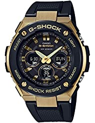 G-Shock  Mens GST-S300G-1A9 Black/Gold One Size