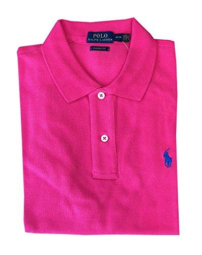 Polo Ralph Lauren Womens Classic Fit Mesh Polo Shirt (Medium, Shocking Pink)