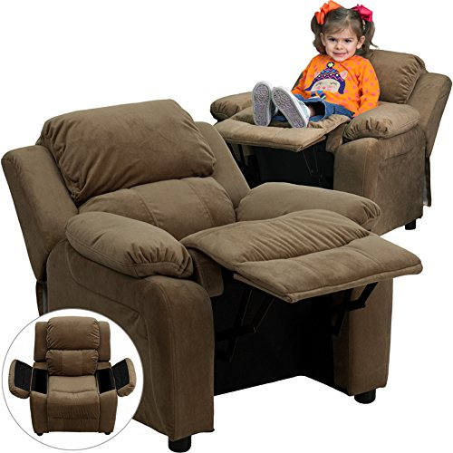 Zuffa Home Furniture Brown kids recliner