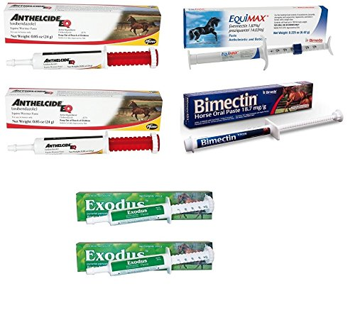Bimedia Horse Wormer Equine Ivermectin Yearly Kit 1.87% Rotational Worming Paste Value by Bimedia