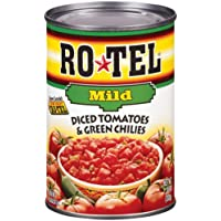 ROTEL Mild Diced Tomatoes and Green Chilies, 10 Ounce, 24 Pack