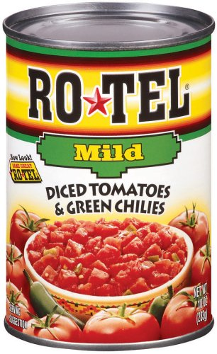 Mild Diced - ROTEL Mild Diced Tomatoes and Green Chilies, 10 Ounce, 24 Pack
