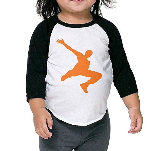 Air Dancer Costume Halloween (Parkour Dancer Kid's Sleeve Raglan Clothes Unisex 3 Toddler Novelty)
