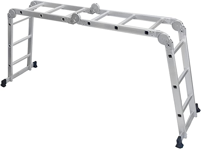 HBlife 3.5 m Escalera De Aluminio Multifuncional Máx Carga De Capacidad De 150 kg Conforme Al Estándar Escalera Plegable Ajustable: Amazon.es: Bricolaje y herramientas