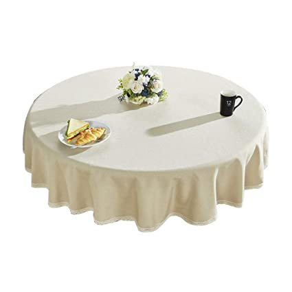 Enjoyable Amazon Com Round Table Cotton Tablecloth Solid Color Download Free Architecture Designs Scobabritishbridgeorg