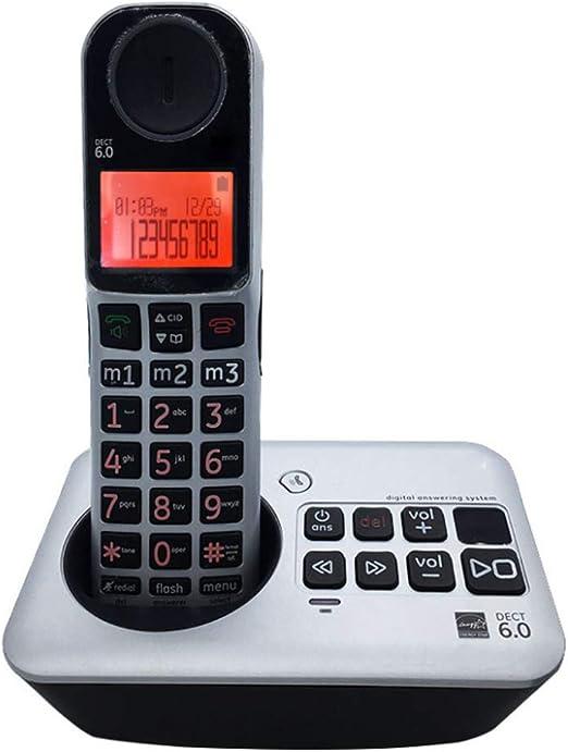 GUOOK TeléFono BotóN Vintage Oficina En El Hogar TeléFono Digital Universal TeléFono Fijo MóVil MáQuina ElectróNica ElectróNica para Padres MáQuina Individual Bienvenido (Color: A): Amazon.es: Hogar