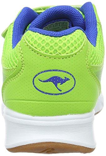 KangaROOS Unisex-Kinder Rodo V Low-Top Grün (Lime/Electric Blue)