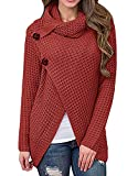 Daomumen Maternity Pullovers Women's Casual Pregnant O-Neck Cotton Nursing Up Long Sleeve Knit Sweaters