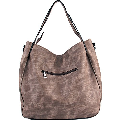 Handbags L Women H Hobo Shoulder 45cm Weave Bags 13cm Handbags Coffee 35cm Cross body PU Leather Large Light W Bags WISHESGEM g5Owqdq