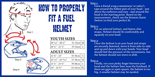 Fuel Helmets SH-OF0016 O5 Series Open Face Helmet, Gloss Black, Large by Fuel Helmets (Image #6)