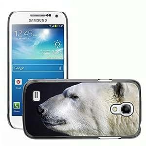Super Stella Slim PC Hard Case Cover Skin Armor Shell Protection // M00107295 Polar Bear Animal Predator Head // Samsung Galaxy S4 Mini i9190