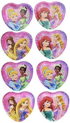 - Disney Very Important Princess Dream Party Heart Shaped Dessert Plates (8)