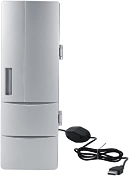 Refrigerador Mini USB Compacto, Mini Nevera con Congelador de ...