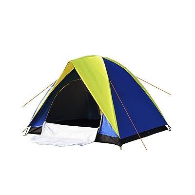 Tente de haute qualité - 3-4 personnes Double couche Double porte / Tentes décontractées / Crochet Tentes / Tente extérieure 200 * 200 ** 135 Cm --Confort de voyage à l'extérieur VENT