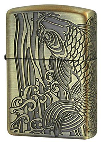 Zippo Antique Series/Rising carp[A]Brass