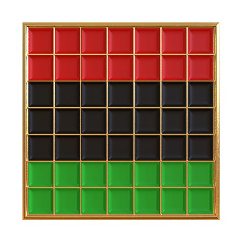 Real Sic Pan African Pride Flag Enamel Pin - Black Lives Matter Lapel Pin Collection Premium Grid Pins Series