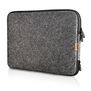 ProCase 13 - 13.5 Inch Felt Laptop Sleeve Case Bag for Macbook Pro Air Surface Book and Most 12 13 Dell HP Acer ASUS Toshiba Lenovo Chromebook Ultrabook Notebook -Black