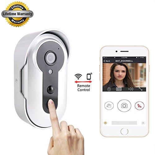 Wireless Video Doorbell,Push Buttons WIFI Video Doorbell,MayPal 1.3MP Smart PIR Alarm Battery Powered Wireless Door Bell Camera by MayPal