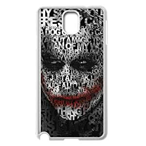 Popular And Durable Designed TPU Case with The Joker For Samsung Galaxy Note 3 Cell Phone Case White