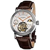 Akribos XXIV Men's AKR493SSBR Limited Edition Genuine Mechanical Tourbillon Moonphase Watch