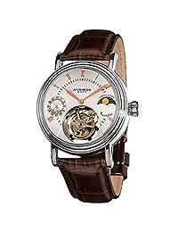 Akribos XXIV Men's AKR493SSBR Genuine Mechanical Tourbillon Moonphase Watch