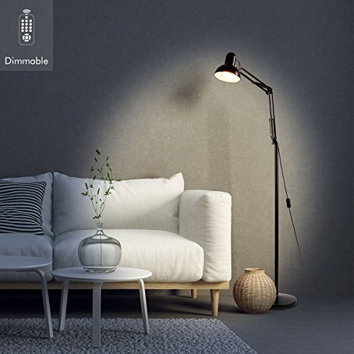 Sunix LED Reading Floor Lamp, Dimmable, Energy Saving, Full Spectrum Natural Daylight Sunlight, LED Standing Light with Adjustable Gooseneck for Living Room Bedroom Office Task (Including a Bulb)