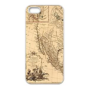 Ancient Map Buried Treasure White iPhone 5S case