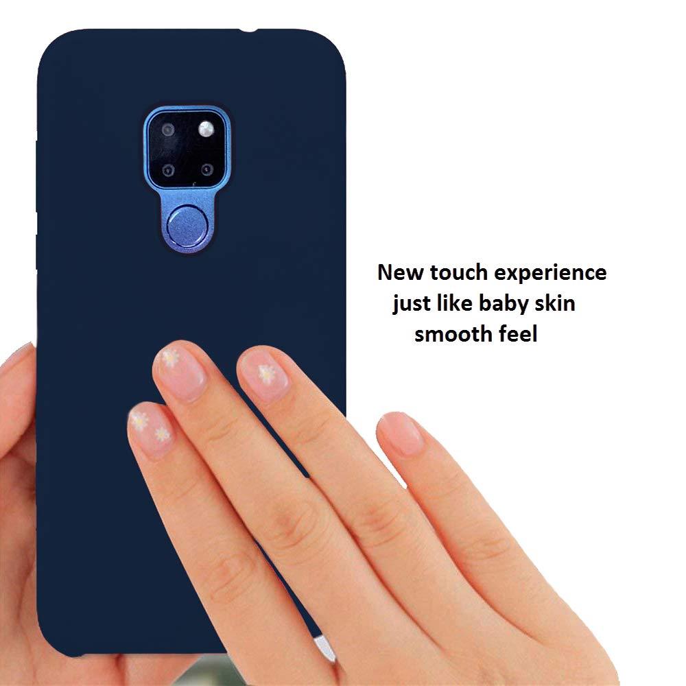Rojo KANSI Funda Compatibles para Huawei Mate 20 Pro Funda de Goma de Silicona L/íquida de Tacto Suave Protector Pantalla Funda de Gel F/ácil de Limpiar y Antigolpes