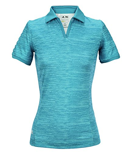 Adidas 2014 Women's Puremotion Textured Pleat Sleeve Polo Shirt (Teal - L)