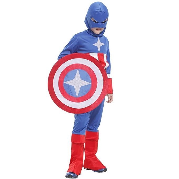 ZHAOXUAN Disfraz de Capitán América de los Vengadores Halloween ...