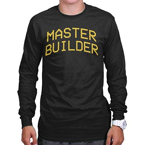 Xbox 360 T-shirt - Master Builder Mine Craft Shirt | Xbox 360 PC Gamer Block PS4 Long Sleeve Tee