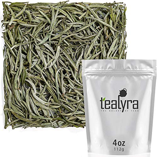 Tealyra - Darjeeling - White Silver Needle - Indian White Loose Leaf Tea - Low Caffeine - All Natural - 112g (4-ounce) ()