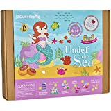 jackinthebox Under The Sea Themed Craft Kit | Includes Beautiful Felt Mermaid Sewing | 6 Different Crafts-in-1 | Best Gift Girls Ages 6 to 10 Years (6-in-1)