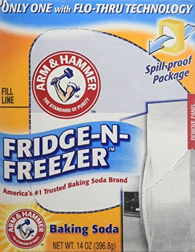 Arm & Hammer Fridge-N-Freezer Odor Absorber Baking Soda (14oz) 396.8g – (Pack of 3)