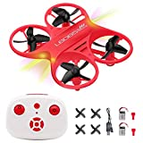 Mini Drone Pocket Drone RC Nano Quadcopter Remote Control Drone RC Helicopter Plane with Auto Hovering 3D Flip Headless Mode and Extra Batteries for Kids Beginners Boys
