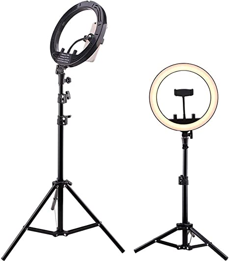 Color, Size : 210cm Hexiaoyi Fill Light Mobile Phone Live Broadcast Photography Three-Legged Bracket Anchor Self-Timer Beauty 10 Inch LED Ring Light