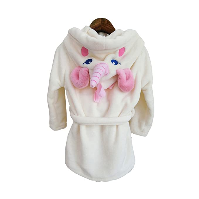 misslight Bebé Unicornio Albornoces Albornoz para Niños Toalla con Capucha de la de Felpa Batas (