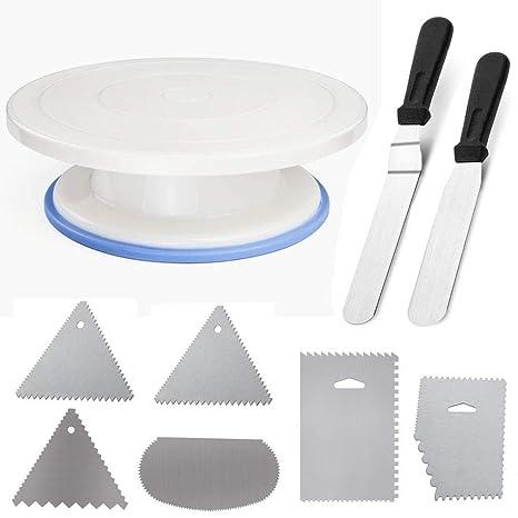 Tortenplatte Mit Winkelpalette Winkelpaletten / Tortenmesser / Offset Icing Spatula Kuchen Tortenmesser aus Edelstahl zum Bac