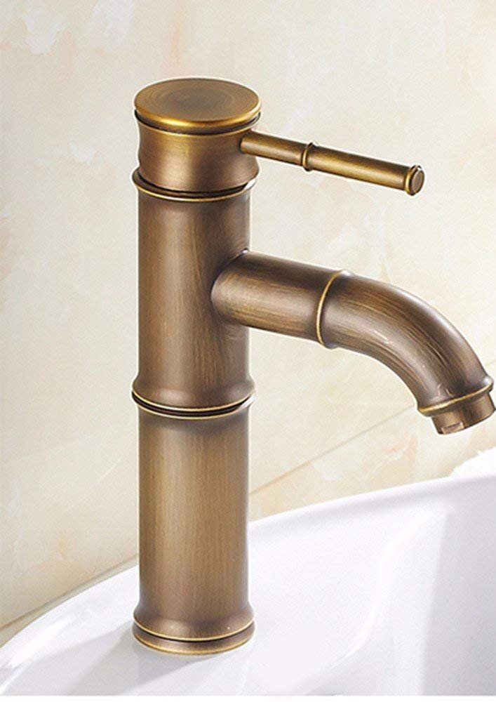 Oudan Europe And The United States Retro Stylell Copper Single Handle Single Hole Wash Basinot And Cold Sink Faucet