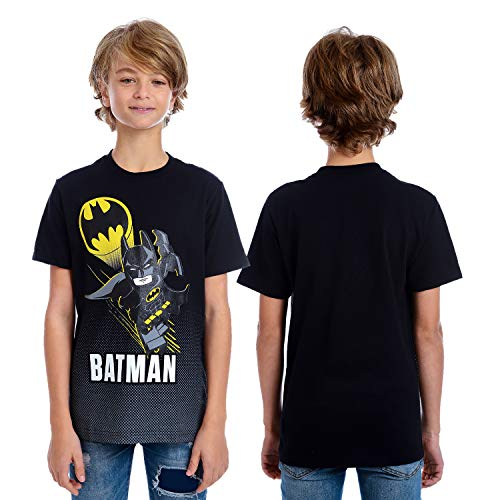 (DC Comics Boys' Big Lego Batman T-Shirt, black,)