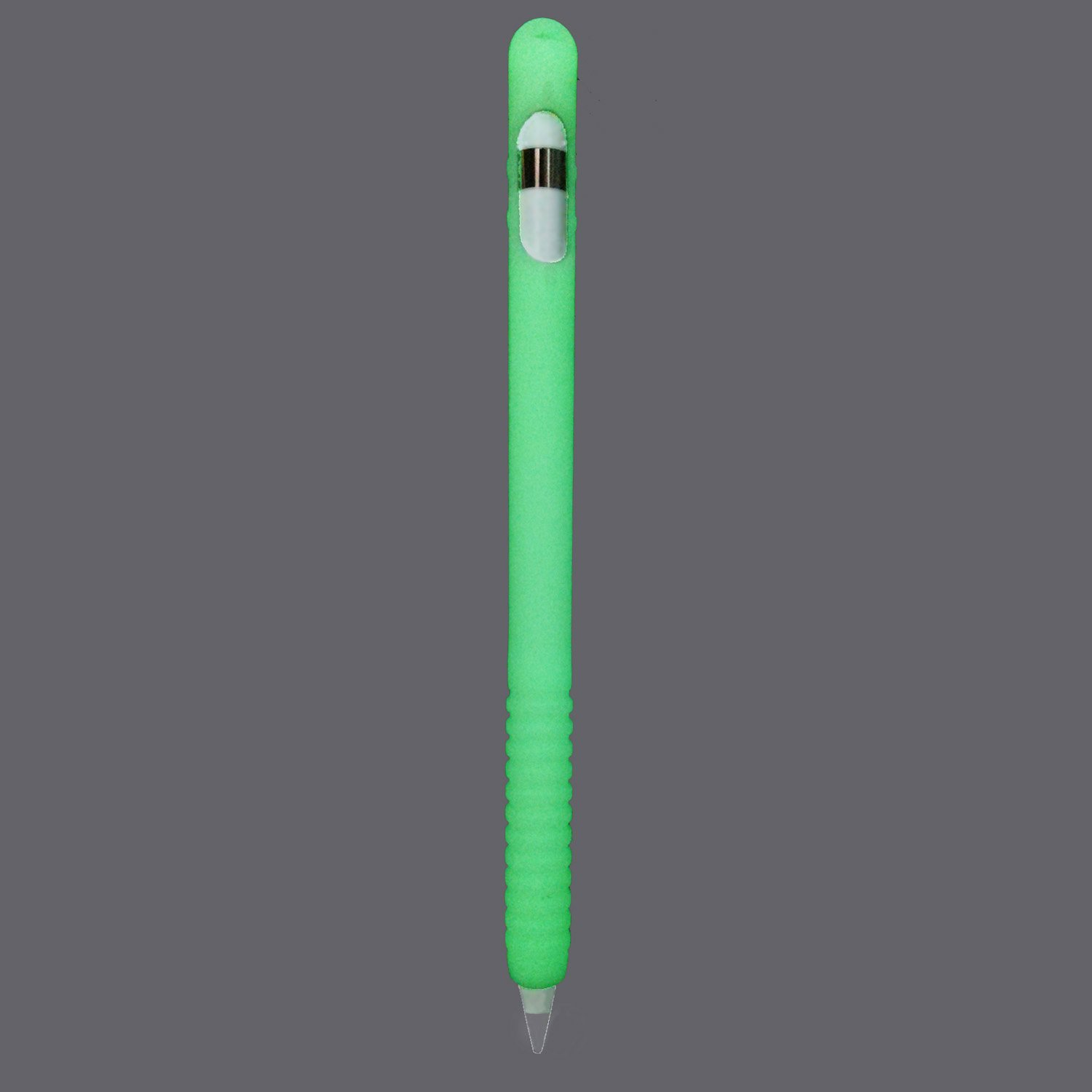 ColorCoral Silicone Cover for Apple Pencil Noctilucent Skin for Apple Stylus Compatible with Apple iPad Pro 9.7' 10.5' 12.9' (Noctilucent) AP004-noctilucent