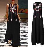 Women Sleeveless Floor Length Dresses Floral