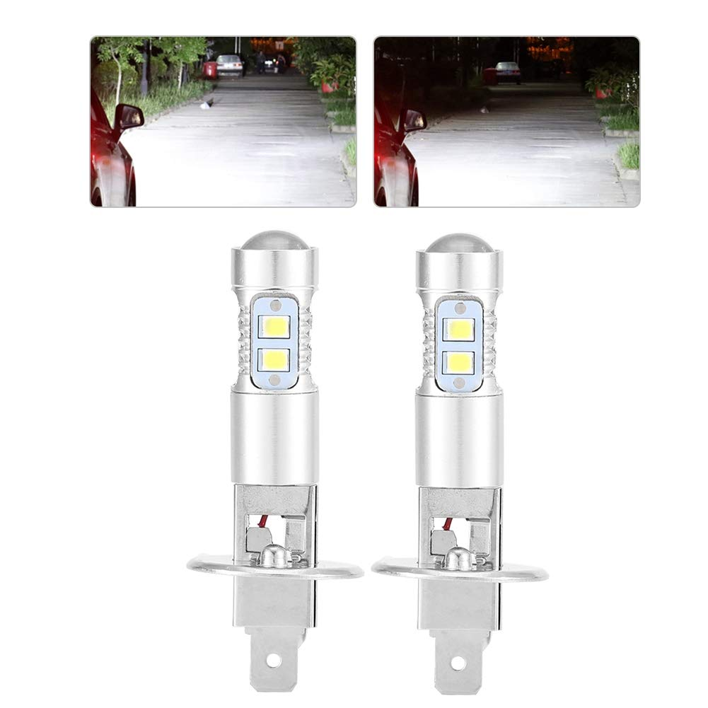 Bombillas para Luces Delanteras 2x H1 6000K Super White 100W LED L/ámparas para Luces Delanteras Kit de Luces Antiniebla