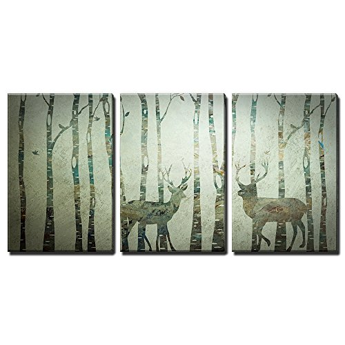 Cheap  wall26 - 3 Panel Animal Canvas Wall Art - Rustic Artwork of..