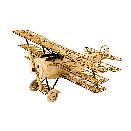 Goolsky 1/18 Fokker DRI 木製 静的 飛行機モデル ディスプレイ レプリカ クラフト 木材 家具 ギフト 子供と大人 装飾 Dancing Wings Hobby VX11 おもちゃ DIY
